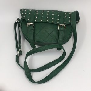 """""""AS IS"""" Green Cowgirl/Saddle Stud Crossbody"""